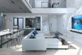 Nội thất đắt tiền trong căn phòng khách Bắc Âu