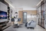 Phòng khách hiện đại cho người làm nghề sáng tạo