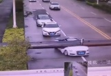 Xe sang Audi gặp tai nạn như phim kinh dị