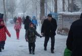 Âm 46 độ C, học sinh Mông Cổ vượt gió rét đến trường