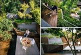 Lạ mắt với sân trống sau nhà được cải tạo thành vườn bậc thang đẹp không thể rời mắt