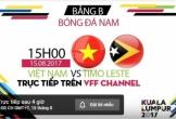 Xem trực tiếp U22 Việt Nam vs U22 Đông Timor bảng B SEA Games 29