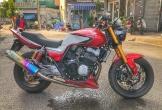 """Honda CB400 """"hầm hố"""" độ phuộc Kawasaki ZX10R"""
