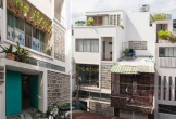 Căn nhà Sài Gòn có một nửa 'núp' sau hai ngôi nhà khác