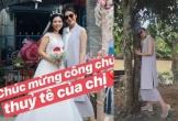 Tăng Thanh Hà tiếp tục vướng nghi án mang bầu lần 3 khi diện đồ rộng và đi giày bệt đến dự đám cưới