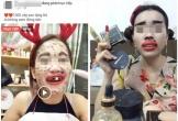 Phụ nữ tự làm mình xấu xí khi livestream bán hàng