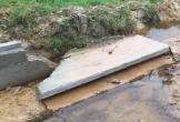 Hà Tĩnh: Mương tiền tỷ sụp đổ sau cơn mưa lớn