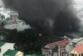 Cháy kho lốp xe ô-tô ở thành phố Vinh