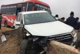 Xe Audi bị đâm nát bét trên cao tốc Pháp Vân - Cầu Giẽ