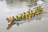 Tưng bừng lễ hội đua thuyền trên sông Ngàn Phố