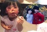Hai bé gái bị 'bắt quả tang' lấy đồ trang điểm của mẹ ra vẽ mặt