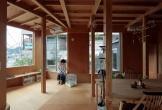 Thích thú trước ngôi nhà hình nấm làm hoàn toàn bằng gỗ tự nhiên ở Nhật