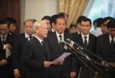 Tổng Bí thư Nguyễn Phú Trọng đọc điếu văn tiễn đưa nguyên Thủ tướng Phan Văn Khải