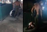 Chồng đánh vợ tới tấp rồi lấy dây buộc cổ kéo lê trên đường gây phẫn nộ