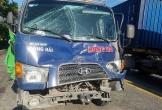 Tai nạn liên hoàn giữa 2 container và 1 xe tải