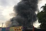 Cháy chợ Sóc Sơn lúc rạng sáng