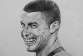 Họa sĩ 9x chỉ mất 15 phút để vẽ tranh chân dung Ronaldo gây