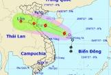 Đường đi của bão Sơn Tinh với sức gió tới 75km/h