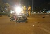 Xe máy lao vào làn ô tô, tông CSGT trên đường Phạm Văn Đồng