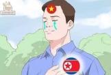 Việt Nam vào vòng 1/8, dân mạng chế ảnh 'cảm ơn' người anh em Triều Tiên khiến ai xem xong cũng cười ngất