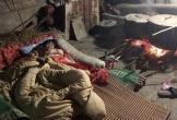 Sực nhớ về hương vị Tết xưa qua bức hình nụ cười ấm áp của 2 đứa trẻ đang nằm cuộn chăn trông nồi bánh chưng