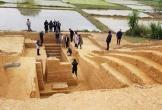Phát hiện nhiều di vật cổ trong tường thành nhà Hồ