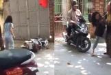 Bắt quả tang chồng ngoại tình, vợ bị cô bồ đánh bể đầu và xô ngã xe ở Ninh Bình