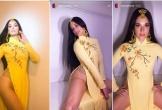 Nữ ca sĩ người Mỹ gây bức xúc khi mặc áo dài không quần phản cảm