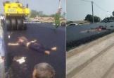 Đi bộ ở đường đang thi công, một người bị xe lu cán chết