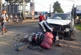 Bị kéo lê dưới gầm xe ben, một người tử vong sau tai nạn liên hoàn