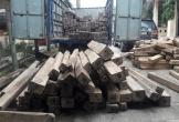 Bắt giữ xe tải chở hàng trăm khúc gỗ không rõ nguồn gốc ở Hà Tĩnh