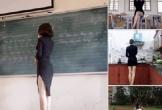 Thực hư hình ảnh cô giáo diện váy xẻ táo bạo trên bục giảng