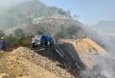 Sau 2 ngày bốc hỏa, hàng chục tấn rác vẫn đang âm ỉ cháy ở Quảng Nam