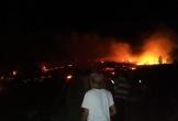 Cháy ngùn ngụt trên đồi thông ở Hà Tĩnh nghi do đốt thực bì