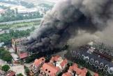 Hà Nội: Cháy lớn tại khu biệt thự Thiên Đường Bảo Sơn