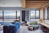 Căn hộ một phòng ngủ với màu xanh dương ấn tượng
