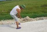 Lộc Hà (Hà Tĩnh): Đường giao thông chưa bàn giao đã chằng chịt vết nứt