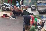 Va chạm giữa xe máy và xe tải, 1 người phụ nữ tử vong