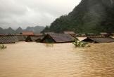 Nước sông Ngàn Sâu lên cao, đề phòng nguy cơ lũ quét, sạt lở đất
