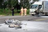 Hà Tĩnh: Xe máy bốc cháy sau tai nạn, một người tử vong