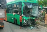 Xe khách đấu đầu xe bồn, 6 người bị thương