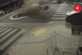 Nữ tài xế lao xe BMW đâm thẳng vòng xuyến, hất lên không trung kịch tính như phim