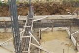 Hà Tĩnh: Mới đổ móng, công trình hơn 12 tỷ đã bộc lộ nhiều dấu hiệu sai phạm