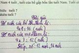 Giáo viên ra bài toán tính tuổi, học trò làm đúng nhưng lại khiến cha mẹ giật mình thon thót khi nhìn đáp án