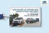 Subaru lần đầu tiên tổ chức chương trình lái thử xe tại TP.Vinh