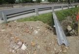 Hà Tĩnh: Người dân tự ý phá kết cấu giao thông trên tuyến Quốc lộ 1A