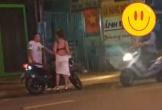 Xôn xao clip cô gái lột váy giữa đường, nghi do bị bạn trai