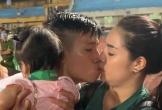 Bùi Tiến Dũng hôn Khánh Linh say đắm, sóng gió gia đình đã trôi qua
