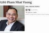 Giá trị tài sản bị sụt giảm, ông Phạm Nhật Vượng có còn giàu nhất Việt Nam?