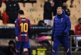 Messi lĩnh thẻ đỏ, Barca gục ngã ở chung kết Siêu Cúp